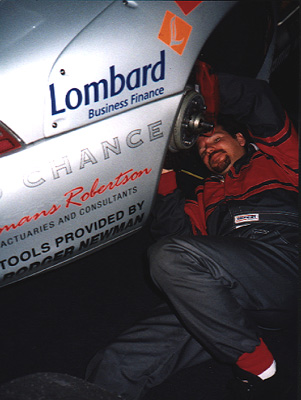 Tony servicing the Roock Motorsport (Germany) GT2 at LeMans 1997